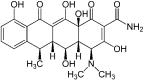Doxycycline : formule chimique (© Jü via Wikipedia)
