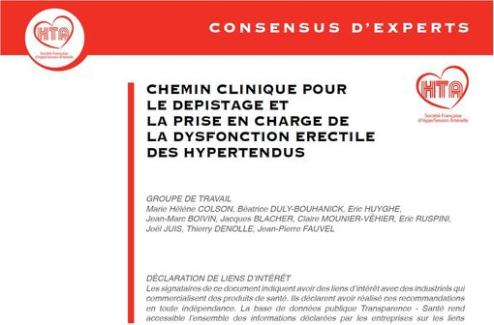 Hypertension artérielle et dysfonction érectile : quelle prise en charge ? Recommandations de la SFHTA