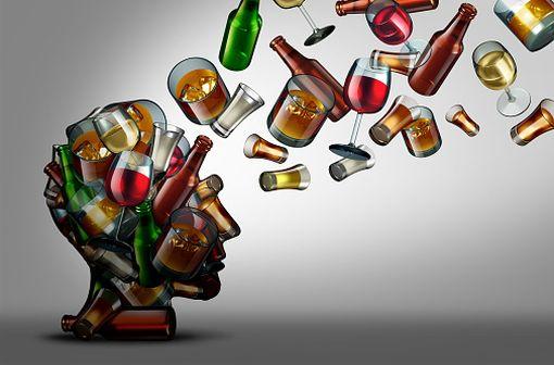 Le syndrome de Wernicke-Korsakoff est principalement retrouvé en cas de carence aiguë en thiamine, associée à une carence chronique, comme chez les sujets alcooliques chroniques et mal nourris (illustration).