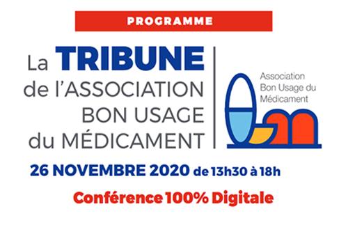 Le 26 novembre 2020, l'ABUM a organisé une tribune sur le thème « Bon usage du médicament : questions et enseignements d'une crise sanitaire » (illustration).