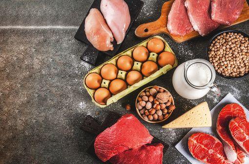 Les besoins moyens en protéines seraient de 49 g/jour pour les hommes adultes et 41 pour les femmes (47 si enceintes, 58,5 si allaitantes) selon la FAO (illustration).