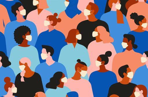 Les masques non sanitaires, dont la vente est autorisée en pharmacie, sont préconisés en cas de contacts occasionnels avec d'autres personnes (illustration).