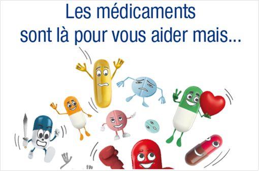 Vue partielle de l'affiche de sensibilisation du grand public sur la iatrogénie (affiche complète ci-dessous).