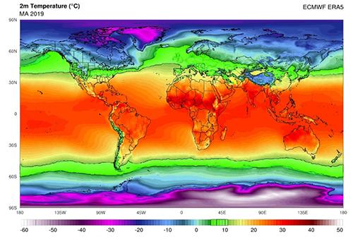 La zone verte serait la zone la plus favorable à la transmission de la COVID-19 en mars (source : Sajadi MM et al., 2020)