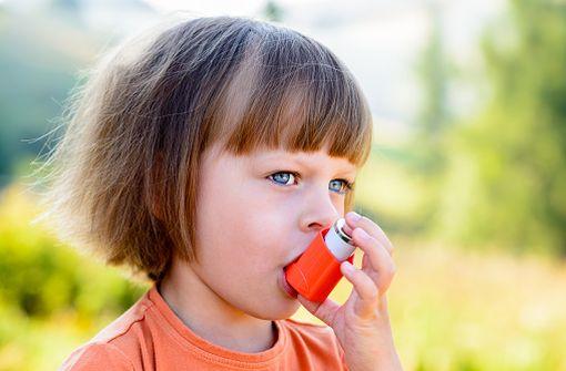 Les corticoïdes inhalés sont le traitement de fond de référence de l'asthme modéré de l'enfant (illustration).
