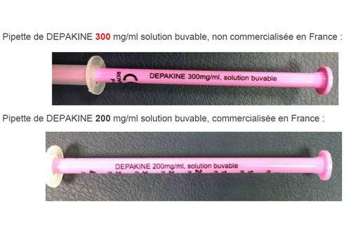 La pipette de 300, non commercialisée en France, expose à des risques de sous-dosage, d'où le rappel du lot 013097 (source : sanofi).