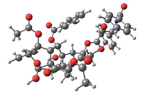 Structure moléculaire du paclitaxel (illustration)