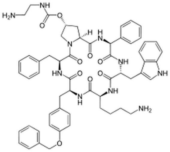 Le pasiréotide est un analogue de la somatostatine (image / source : Wikipedia, auteur : Yikrazuul)
