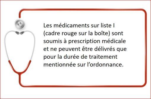 La prométhazine per os étant désormais inscrite sur liste I, les médicaments contenant cette substance sont soumis à prescription médicale obligatoire (illustration).
