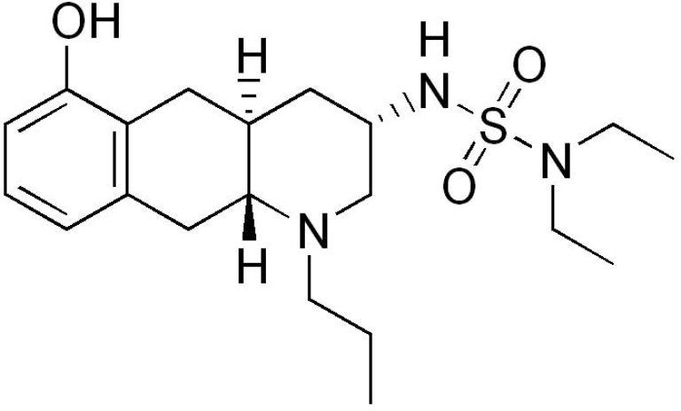 Le quinagolide est un agoniste dopaminergique D2 sélectif, inhibiteur de la sécrétion de prolactine (image : © Wikimedia).