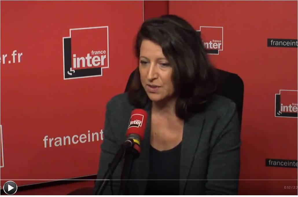 Agnès Buzyn au micro de France Inter le 14 février 2018 (capture d'écran).