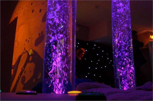 L'espace snoezelen de la Villa du Tertre a été conçu pour stimuler en douceur les sens des résidents.
