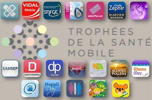 Applications mobiles santé à destination des professionnels et du grand public primées.