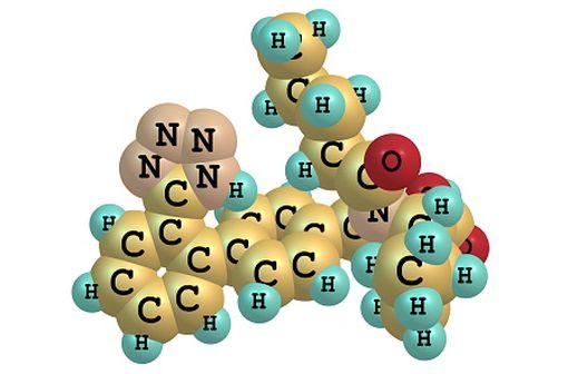 Structure moléculaire du valsartan (illustration).