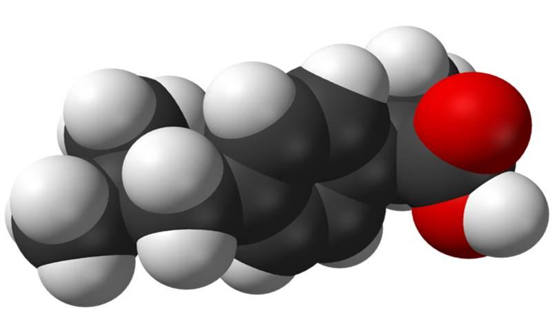 Représentation tridimensionnelle de la molécule d'ibuprofène (© Ben Mills, Wikimedia)